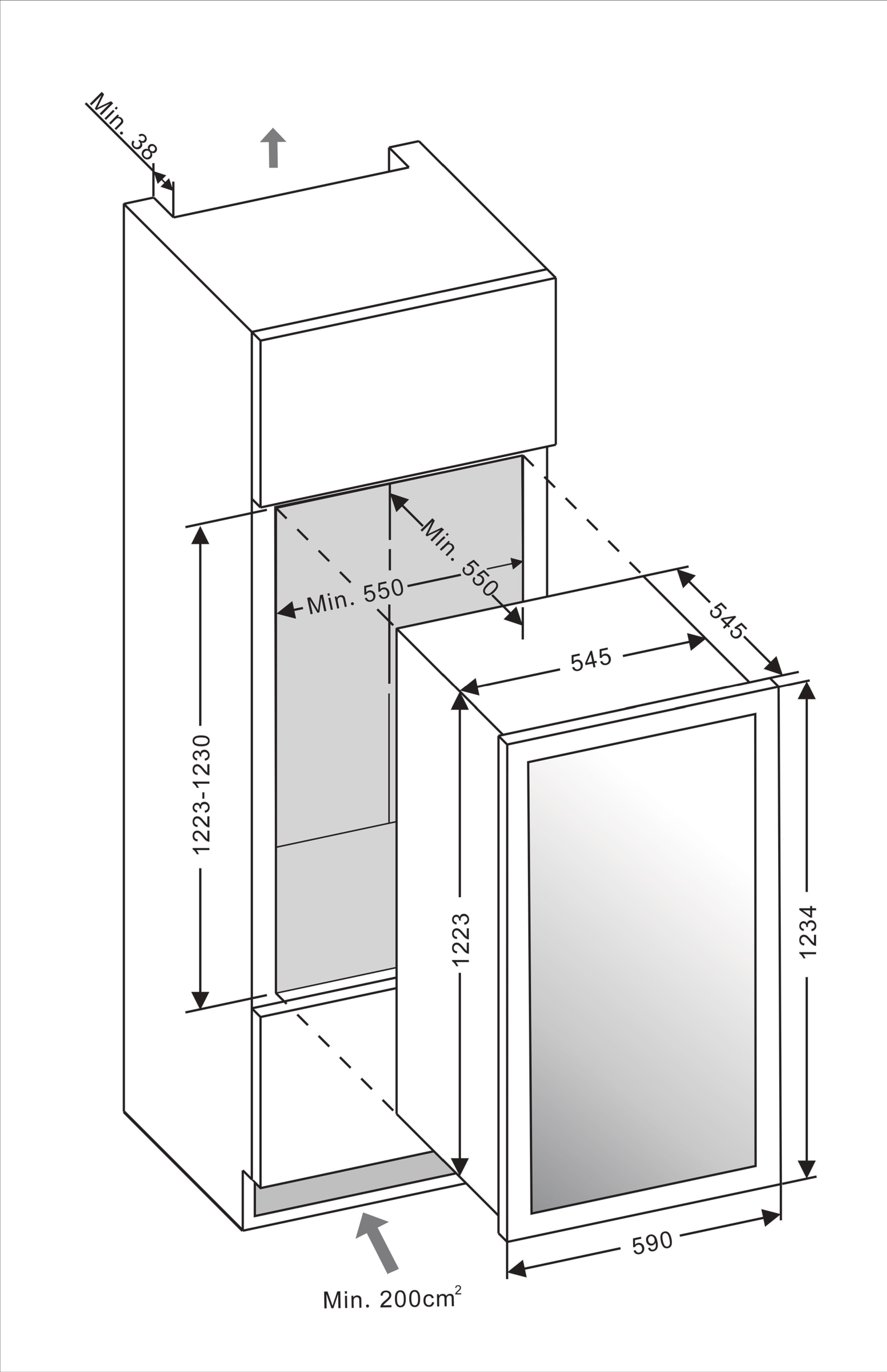 Built in drawing mQuvée WineMaster 89